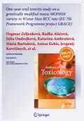 GRACE Projecto UE | Milho transgénico MON 810 sem efeitos adversos: Estudo de 1 ano