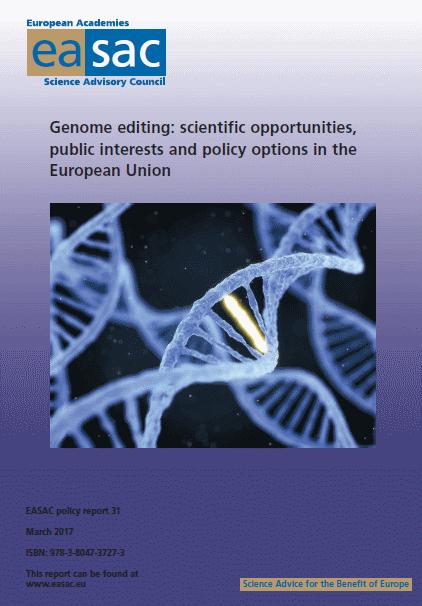 Genome Editing EASAC - Mar2017